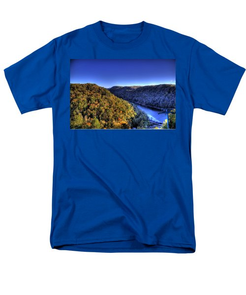 Men's T-Shirt  (Regular Fit) featuring the photograph Sun Setting On Fall Hills by Jonny D
