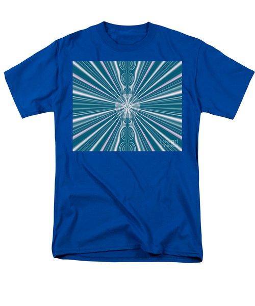 Men's T-Shirt  (Regular Fit) featuring the digital art Sunburst In The Rain by Luther Fine Art