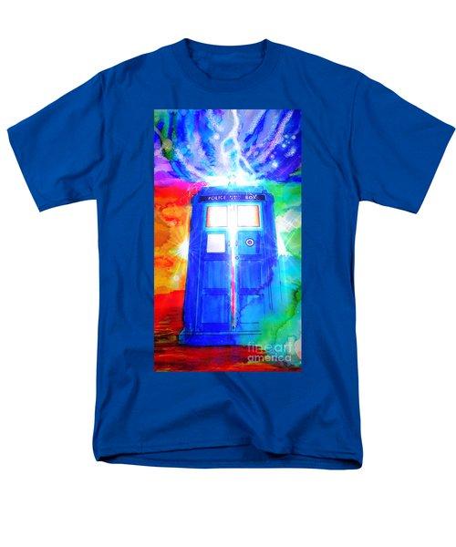Tardis Men's T-Shirt  (Regular Fit) by Justin Moore