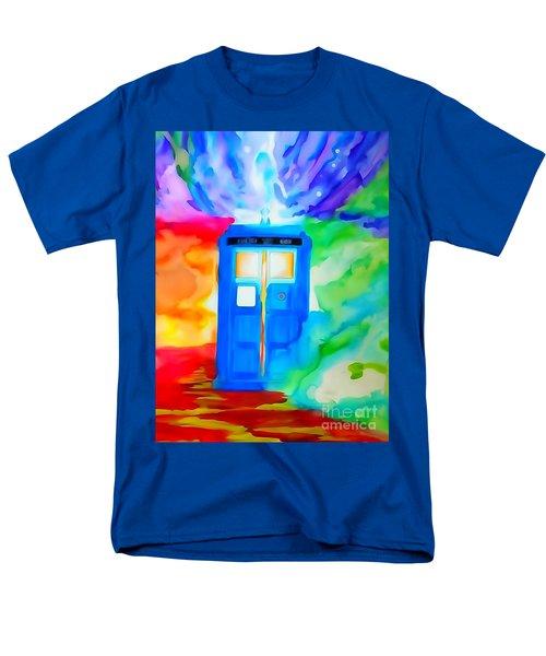 Tardis Watercolor Edition Men's T-Shirt  (Regular Fit) by Justin Moore