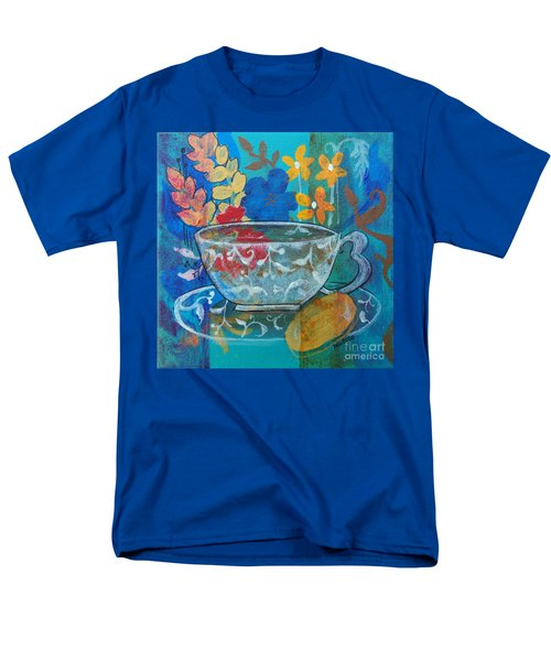 Men's T-Shirt  (Regular Fit) featuring the painting Tea With Biscuit by Robin Maria Pedrero