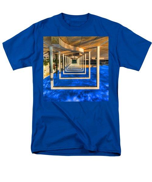Men's T-Shirt  (Regular Fit) featuring the photograph Tel Aviv Jump by Ron Shoshani