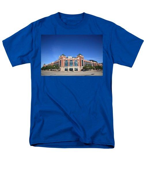 Texas Rangers Ballpark In Arlington Men's T-Shirt  (Regular Fit) by Frank Romeo
