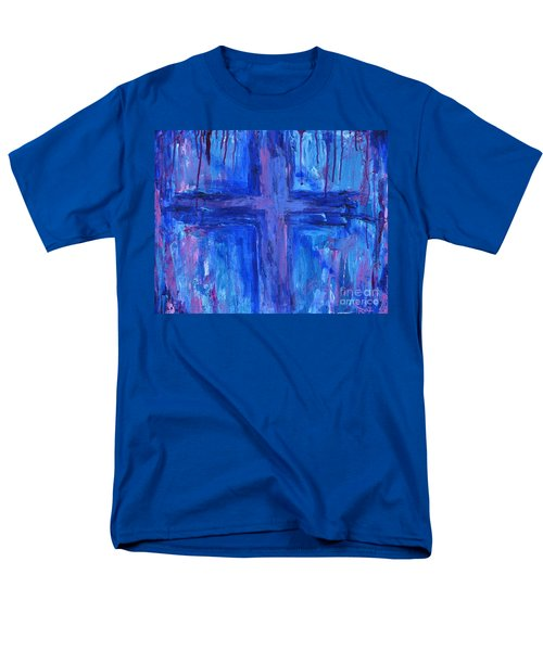 Men's T-Shirt  (Regular Fit) featuring the painting The Crossroads #2 by Roz Abellera Art
