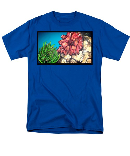 The Odd Couple Two Very Different Sea Anemones Cohabitat Men's T-Shirt  (Regular Fit) by Kimberlee Baxter