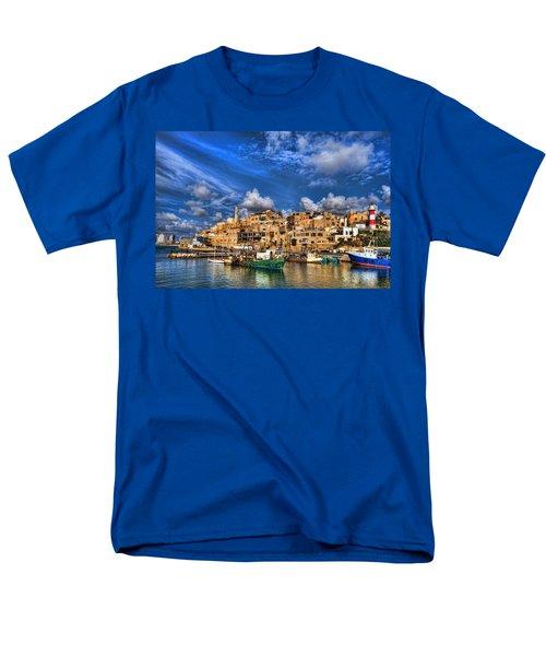 the old Jaffa port Men's T-Shirt  (Regular Fit) by Ron Shoshani