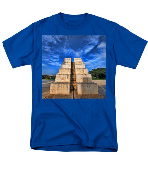 Men's T-Shirt  (Regular Fit) featuring the photograph The White City by Ron Shoshani