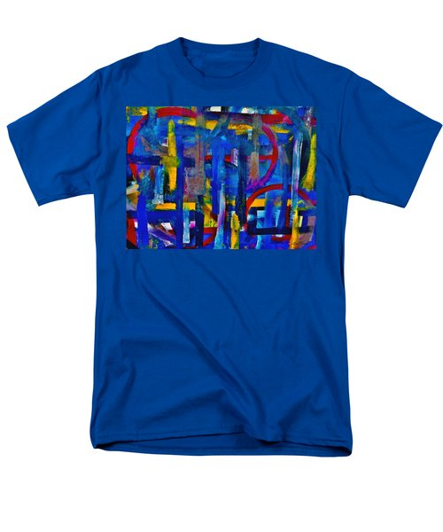 Men's T-Shirt  (Regular Fit) featuring the painting Anchored In Art by Lisa Kaiser