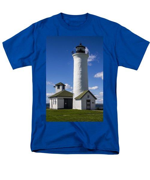 Tibbetts Point Lighthouse Men's T-Shirt  (Regular Fit) by Ben and Raisa Gertsberg