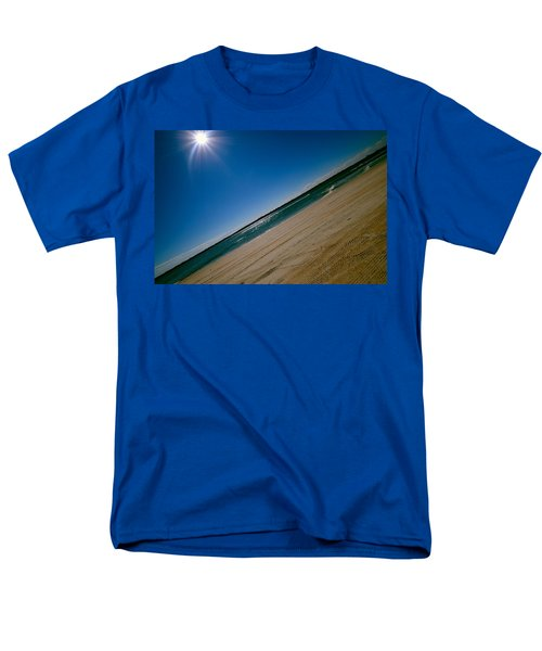 Men's T-Shirt  (Regular Fit) featuring the photograph Treads In The Sand by DigiArt Diaries by Vicky B Fuller