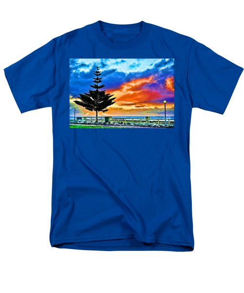 Tree And Sunset Men's T-Shirt  (Regular Fit) by Yew Kwang