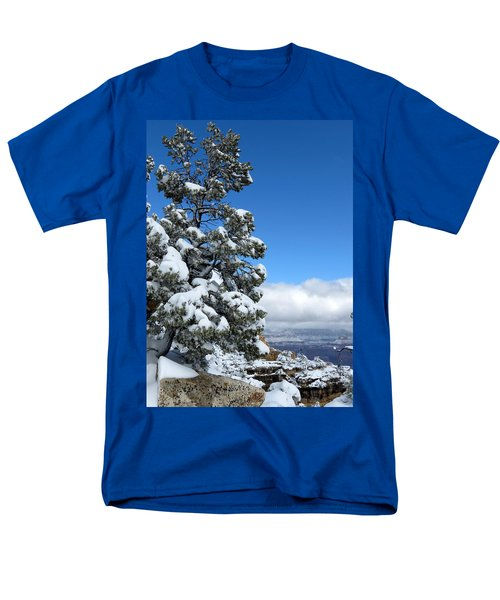Tree At The Grand Canyon Men's T-Shirt  (Regular Fit) by Laurel Powell