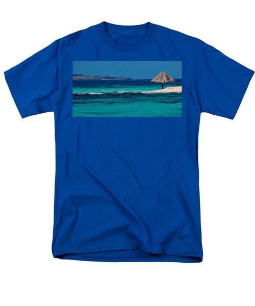 Men's T-Shirt  (Regular Fit) featuring the photograph Tropical Umbrella by Don Schwartz