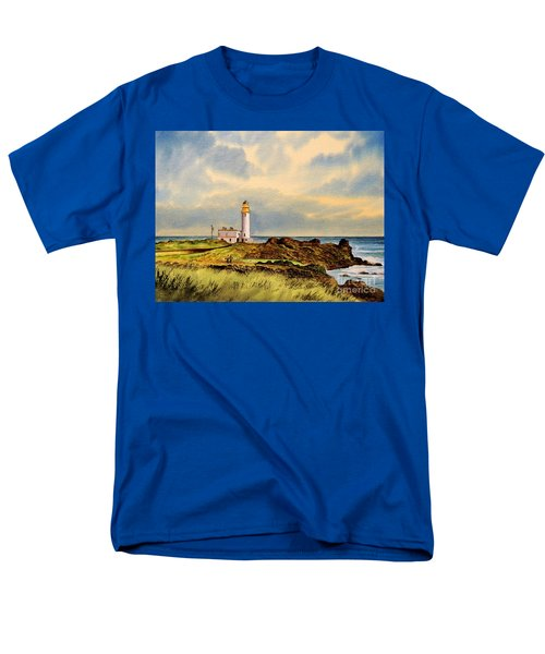 Turnberry Golf Course 9th Tee Men's T-Shirt  (Regular Fit) by Bill Holkham