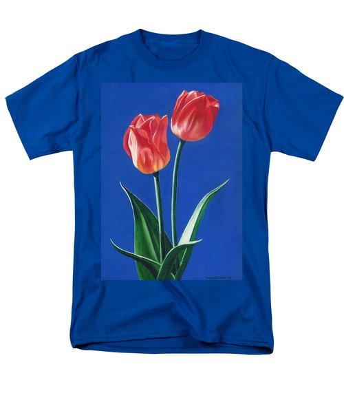 Two Tulips Men's T-Shirt  (Regular Fit)