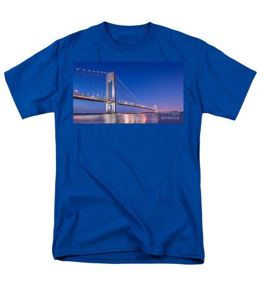 Verrazano Bridge Before Sunrise  Men's T-Shirt  (Regular Fit) by Michael Ver Sprill