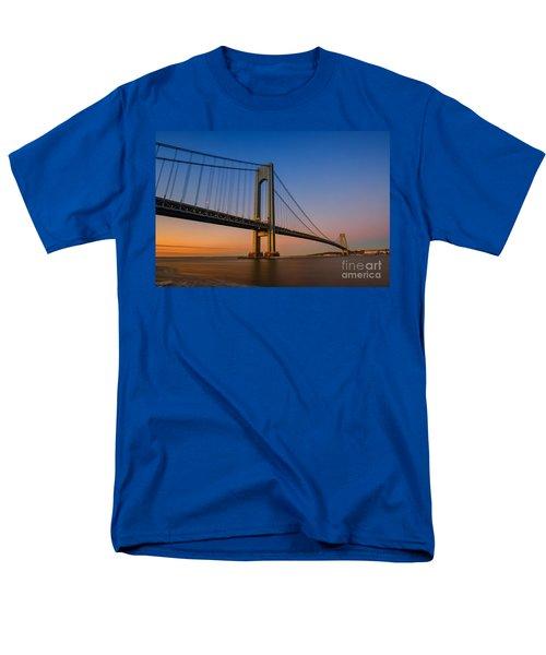 Verrazano Bridge Sunrise  Men's T-Shirt  (Regular Fit) by Michael Ver Sprill