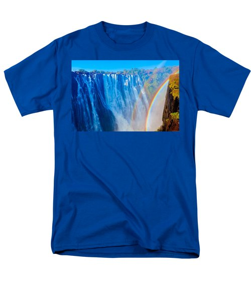 Victoria Falls Double Rainbow Men's T-Shirt  (Regular Fit) by Jeff at JSJ Photography