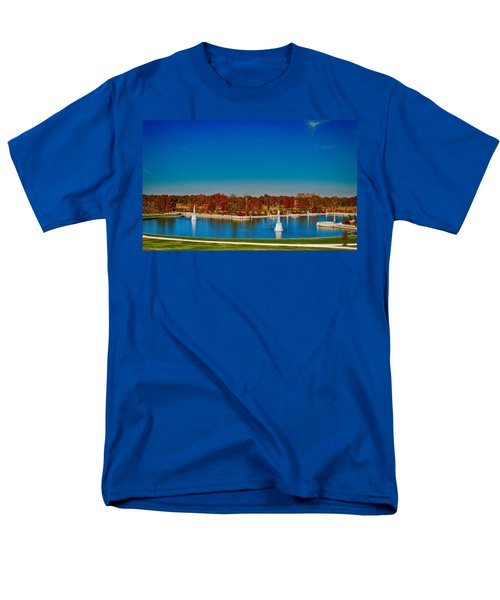 View From Art Hill Forest Park Missouri Men's T-Shirt  (Regular Fit) by Peggy Franz