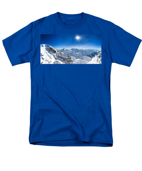 View From Titlis Mountain Towards The South Men's T-Shirt  (Regular Fit) by Carsten Reisinger
