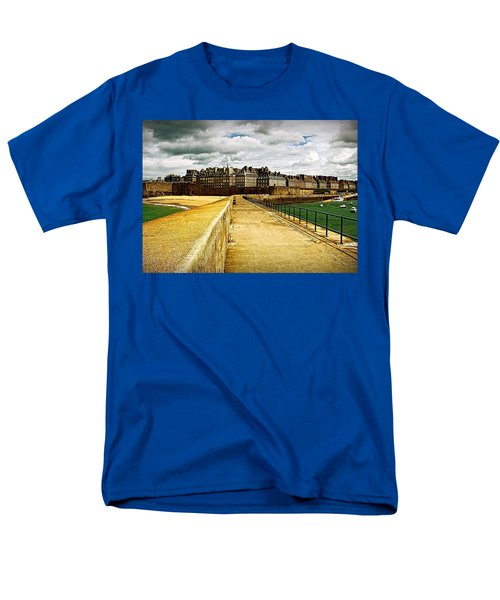 Men's T-Shirt  (Regular Fit) featuring the photograph Walkway To Intra Muros by Elf Evans