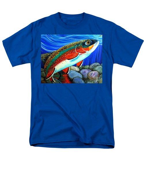 Brook Trout  Men's T-Shirt  (Regular Fit) by Jackie Carpenter