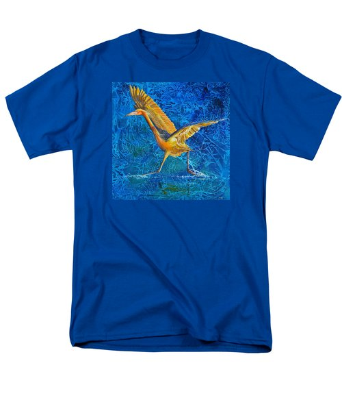 Men's T-Shirt  (Regular Fit) featuring the painting Water Run by AnnaJo Vahle