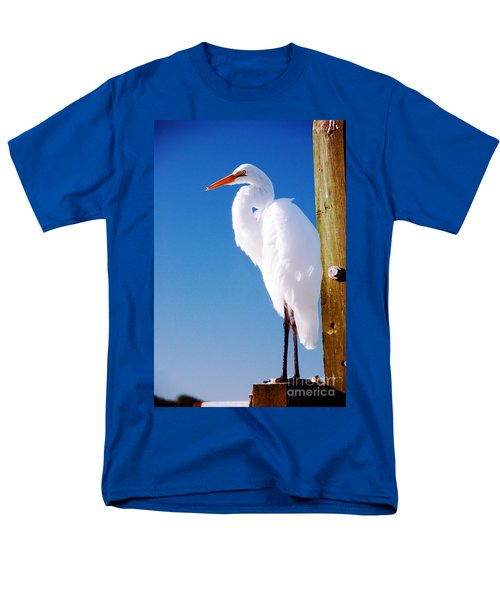 Great White Heron Men's T-Shirt  (Regular Fit) by Vizual Studio