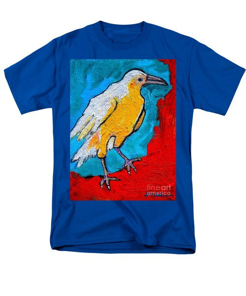 Men's T-Shirt  (Regular Fit) featuring the painting White Crow by Ana Maria Edulescu