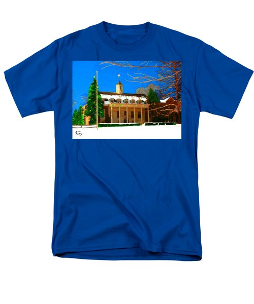 Whittle Hall At Christmas Men's T-Shirt  (Regular Fit) by Bruce Nutting