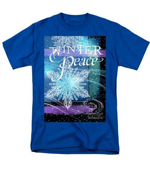Winter Peace Greeting Men's T-Shirt  (Regular Fit)