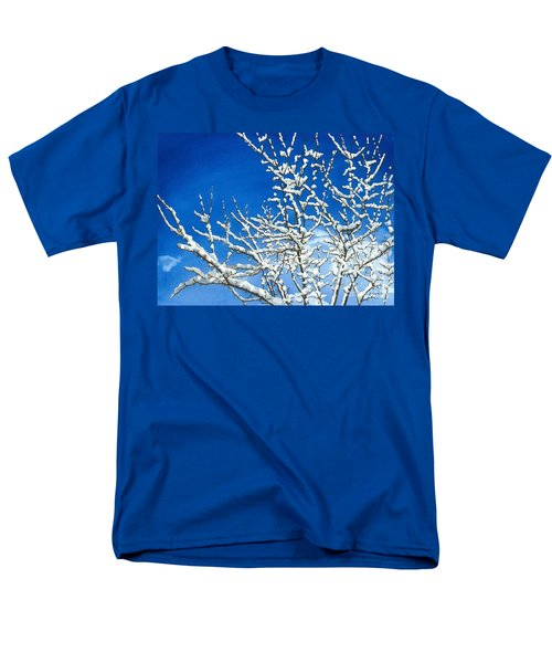 Men's T-Shirt  (Regular Fit) featuring the painting Winter's Artistry by Barbara Jewell