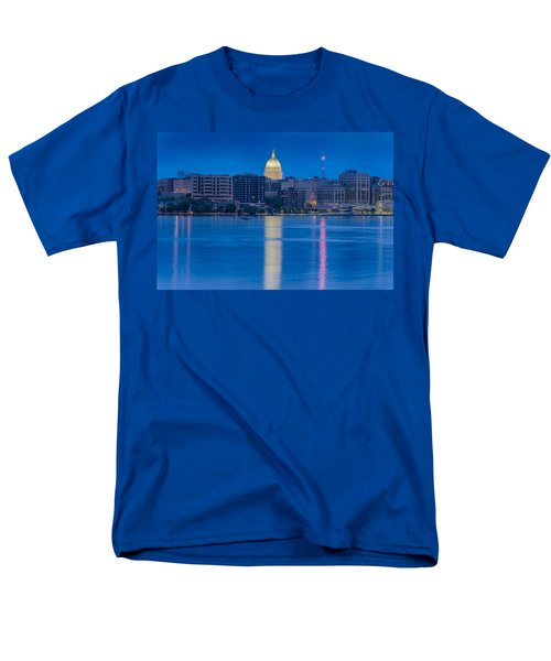Men's T-Shirt  (Regular Fit) featuring the photograph Wisconsin Capitol Reflection by Sebastian Musial
