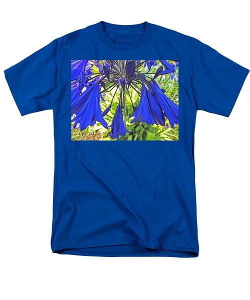Men's T-Shirt  (Regular Fit) featuring the digital art Beautiful Bluebells Close-up by Anne Mott