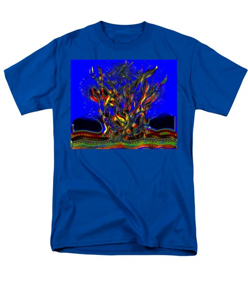 Men's T-Shirt  (Regular Fit) featuring the digital art Camp Fire Delight by Alec Drake