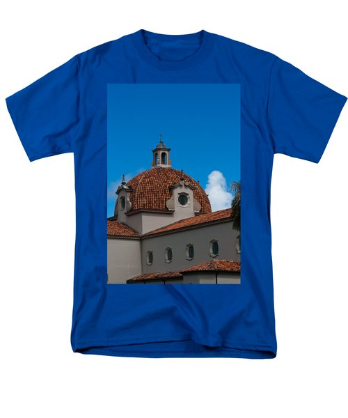 Men's T-Shirt  (Regular Fit) featuring the photograph Church Of The Little Flower Dome And Cross by Ed Gleichman