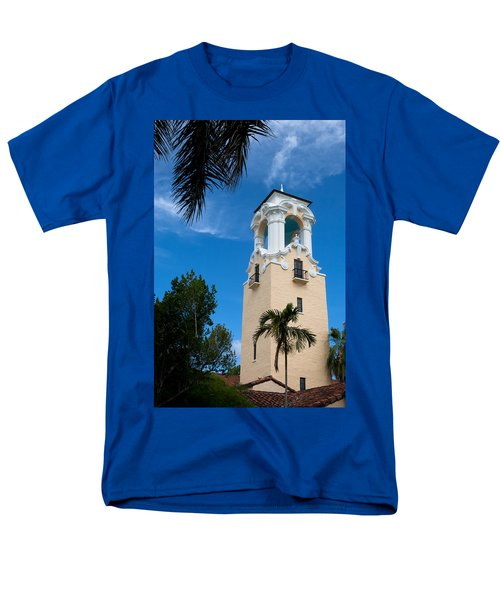 Men's T-Shirt  (Regular Fit) featuring the photograph Congregational Church Of Coral Gables by Ed Gleichman