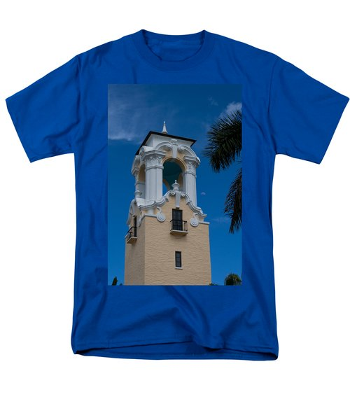Men's T-Shirt  (Regular Fit) featuring the photograph Congregational Church Tower by Ed Gleichman