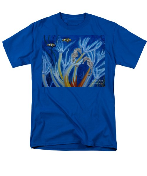 Men's T-Shirt  (Regular Fit) featuring the painting Date Night On The Reef by Julie Brugh Riffey