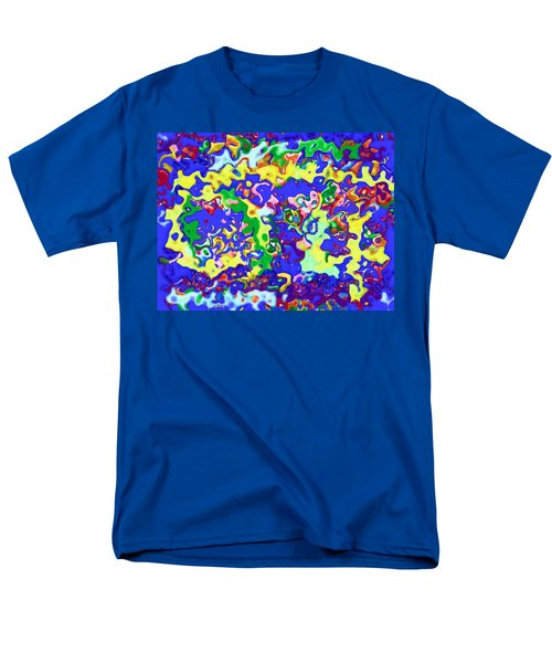 Men's T-Shirt  (Regular Fit) featuring the digital art Fiesta In San Antonio by Alec Drake