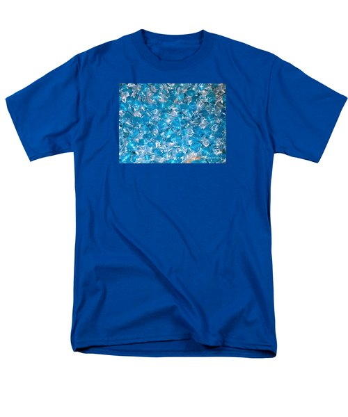 Men's T-Shirt  (Regular Fit) featuring the photograph Ice Blues by Beth Saffer