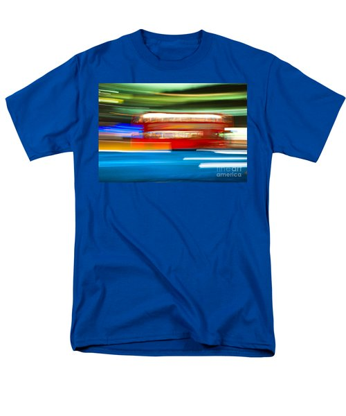 Men's T-Shirt  (Regular Fit) featuring the photograph London Bus Motion by Luciano Mortula