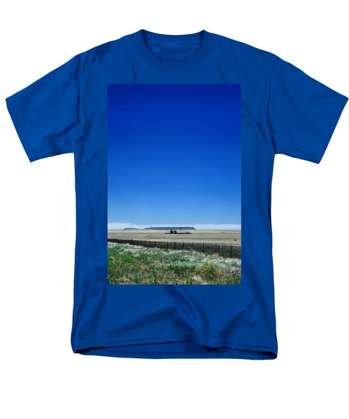 Men's T-Shirt  (Regular Fit) featuring the photograph Somewhere On Hwy 285 Number One by Lon Casler Bixby