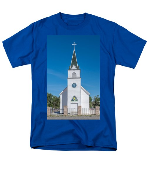 Men's T-Shirt  (Regular Fit) featuring the photograph St. John The Evangelist Catholic Church by Fran Riley