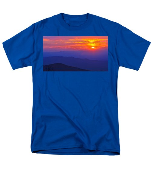 Blue Ridge Parkway Sunset, Va Men's T-Shirt  (Regular Fit) by The American Shutterbug Society