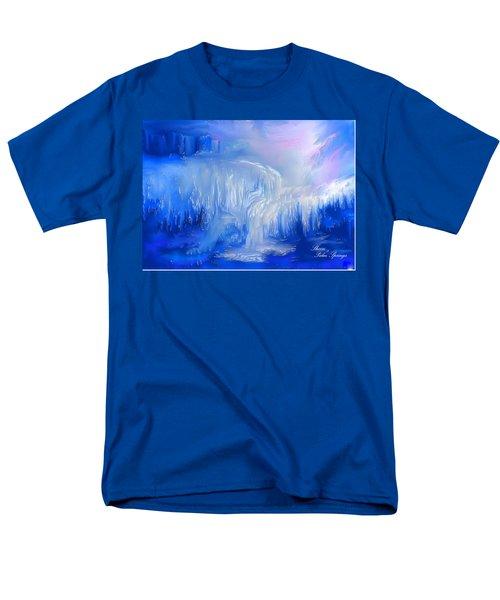 Ice Falls Men's T-Shirt  (Regular Fit) by Sherri's Of Palm Springs