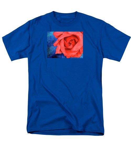 Red Rose Men's T-Shirt  (Regular Fit) by Rebecca Davis