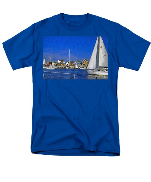 Men's T-Shirt  (Regular Fit) featuring the photograph Sailing Marina Del Rey Fisherman's Village by David Zanzinger