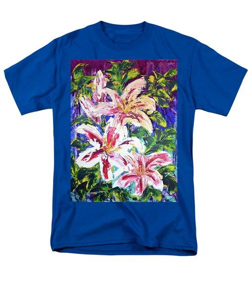 Tropical Flowers Men's T-Shirt  (Regular Fit) by Lynda Cookson