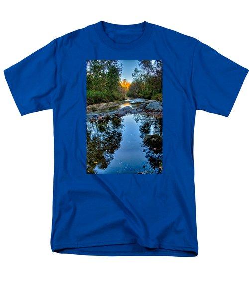 Stone Mountain North Carolina Scenery During Autumn Season Men's T-Shirt  (Regular Fit) by Alex Grichenko